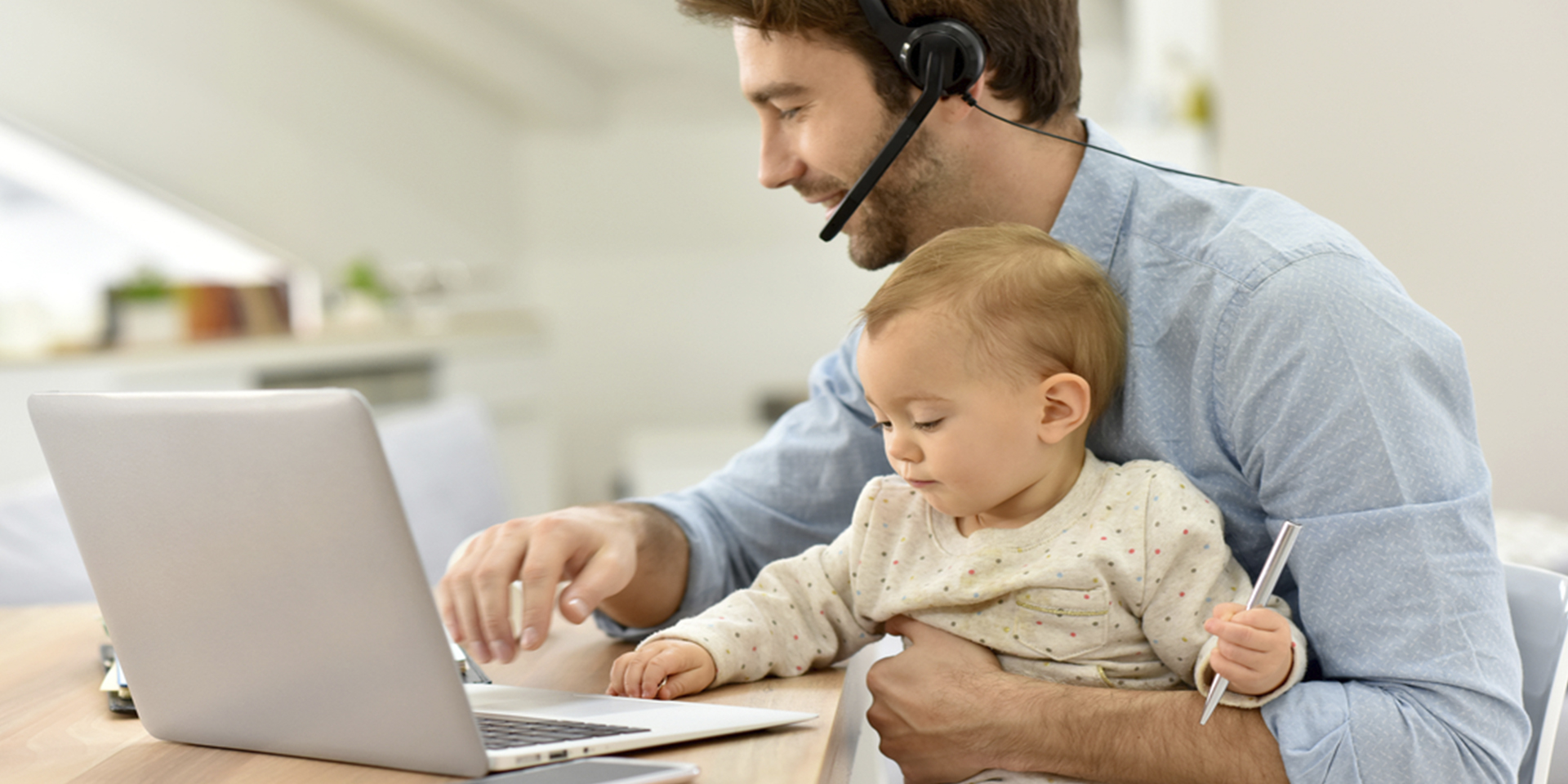 work from home with baby
