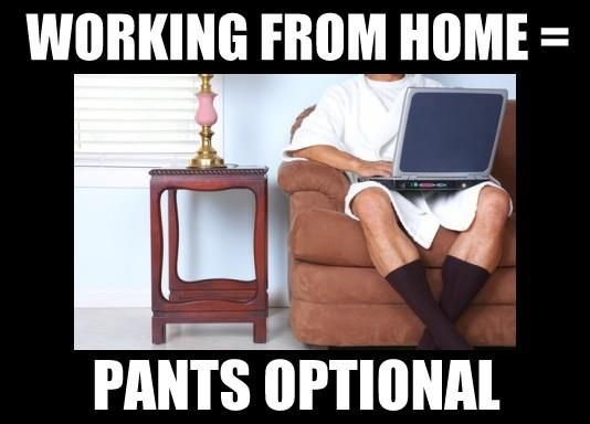 work from home no pants